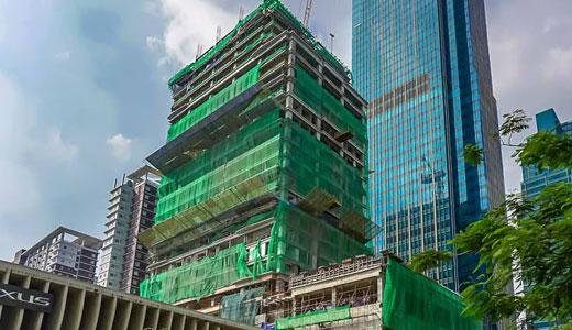グランドハイアット・マニラ・サウスタワー建設進捗状況(2019年9月)